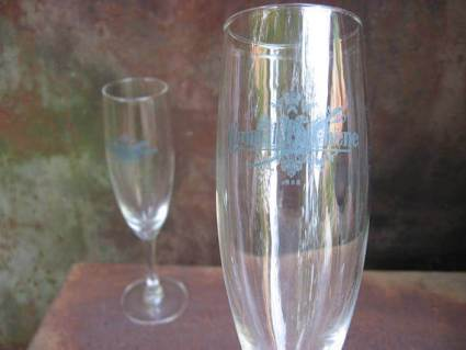 Champagne glasses at PumpjackPiddlewick on Etsy