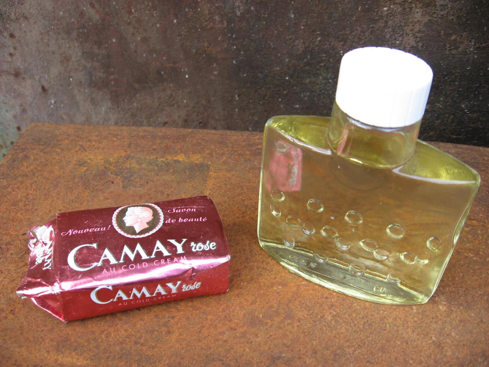 1950s Camay soap and eau de parfum perfume at PumpjackPiddlewick
