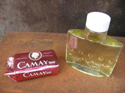 1950s Camay soap and eau de parfum perfume at PumpjackPiddlewick