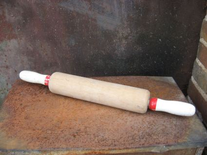1960s wooden rolling pin at PumpjackPiddlewick