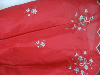 Red 1950s puff underskirt at PumpjackPiddlewick