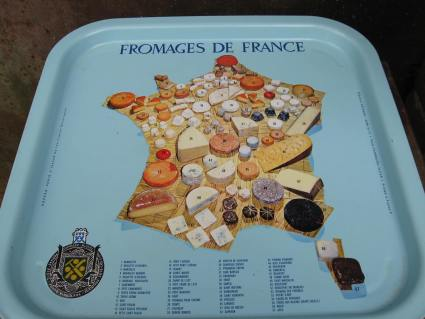 Fromages Cheeses of France map metal tray_A_PumpjackPiddlewick