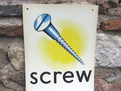 Man cave vowel pronunciation poster Screw at PumpjackPiddlewick