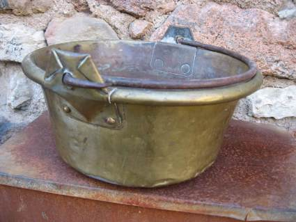 Brass Plant Pot at PumpjackPiddlewick