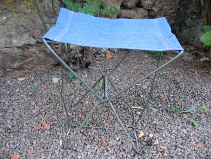 Folding garden chair at PumpjackPiddlewick