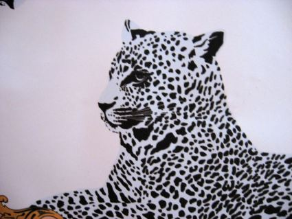 Large statement scarf of cheetahs