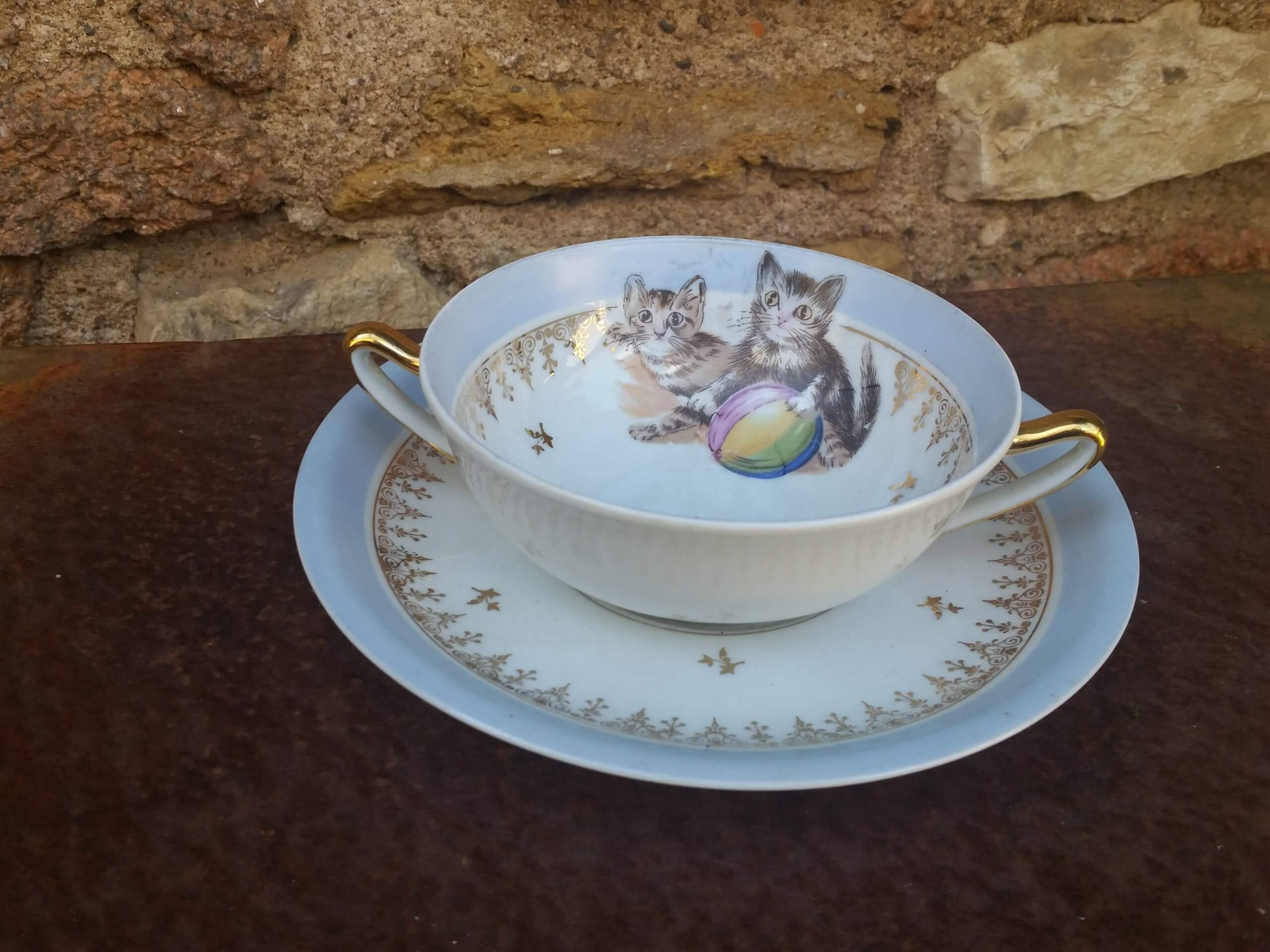 Limoges coffee bowl from PumpjackPiddlewick