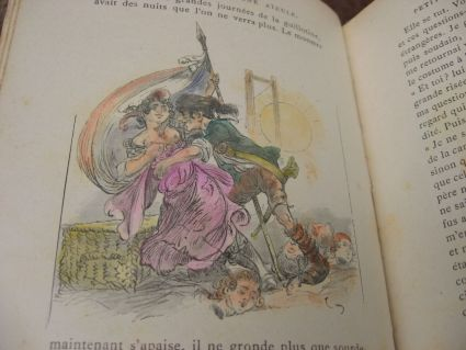 Antique risque very French book with beautiful drawings at PumpjackPiddlewick