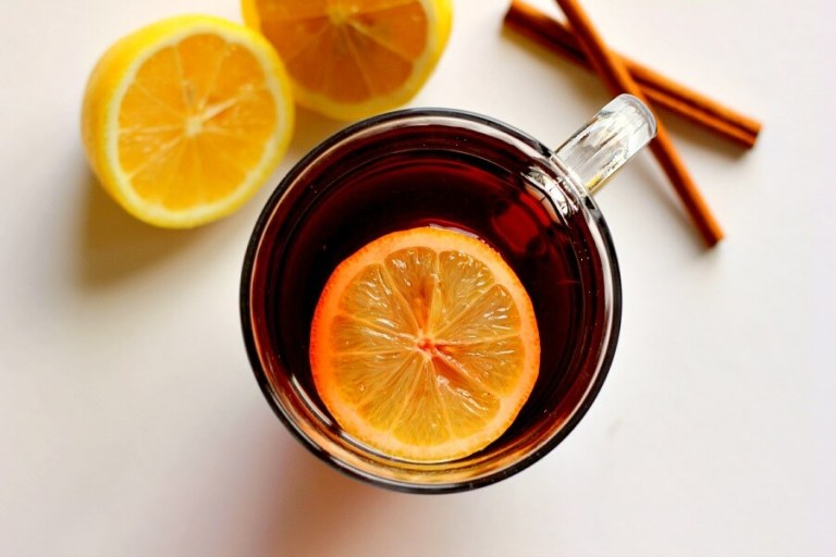 This Slow Cooker Cranberry Spice Tea is made with black tea, cranberry juice, lemon, and spices. It's perfect to warm you up when you're feeling chilled!