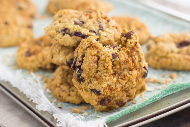 a pile of oatmeal cookies