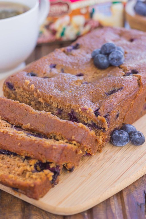 This Blueberry Gingerbread Loaf is soft, moist, and loaded with fresh blueberries and cozy spices. Easy to make and bursting with the flavors of the season, this bread makes a delicious breakfast or dessert for your hungry house guests!