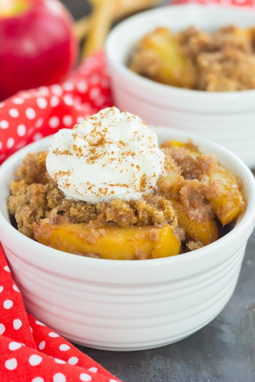 This Slow Cooker Apple Cinnamon Dump Cake is an easy and delicious dessert that captures the flavors of fall. With just six ingredients and hardly any prep time, you can dump everything into your slow cooker and let it work its magic! #cake #dumpcake #appledumpcake #slowcookercake #slowcookerdumpcake #slowcookerdesserts #fallcake #fallrecipe #falldessert #appledessert