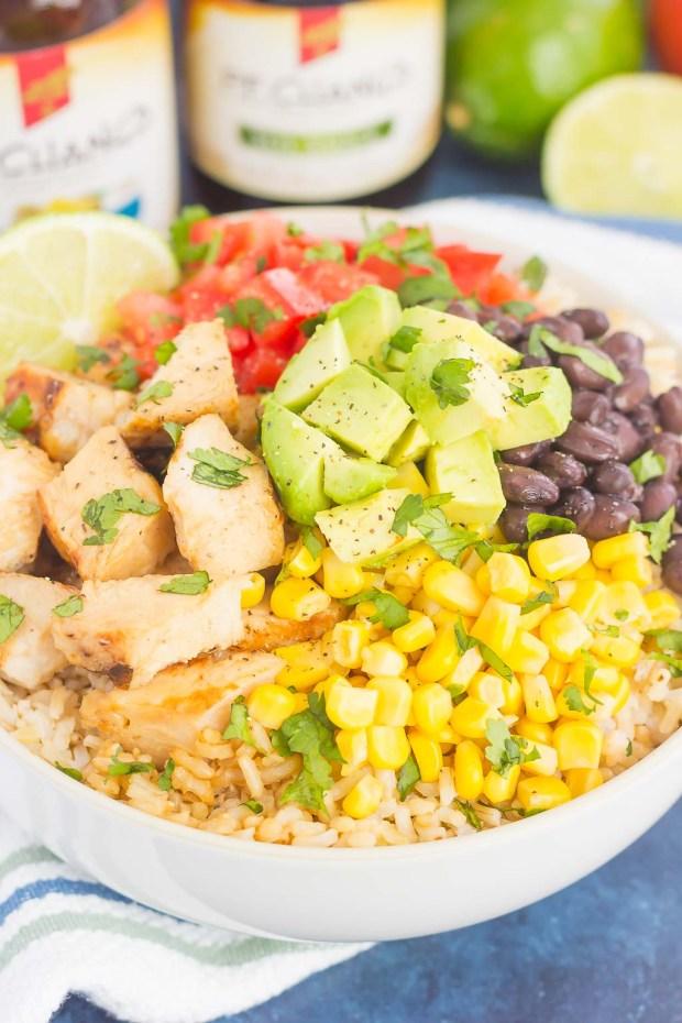 Easy Chicken Burrito Bowls