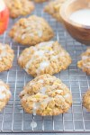 These Glazed Apple Oatmeal Cookies are soft, chewy and loaded with flavor. Packed with chunks of apples, fall spices and topped with a deliciously sweet glaze, you'll be making this easy cookie all season long!