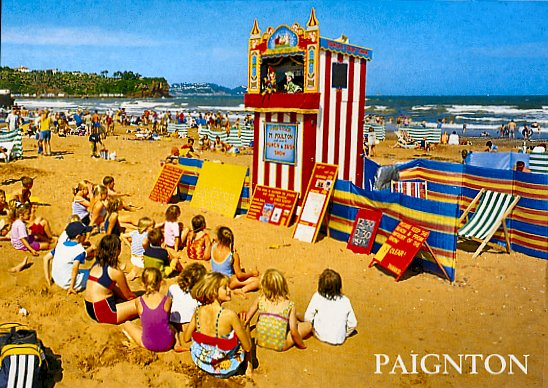Image result for punch and judy on the beach