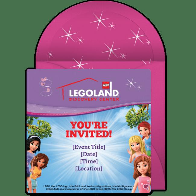 lego friends online invitation