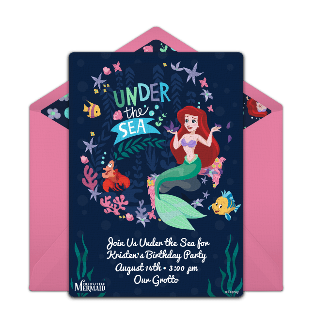 free little mermaid under the sea