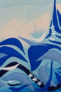 blauw golven detail