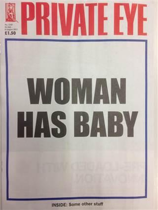 Woman has baby
