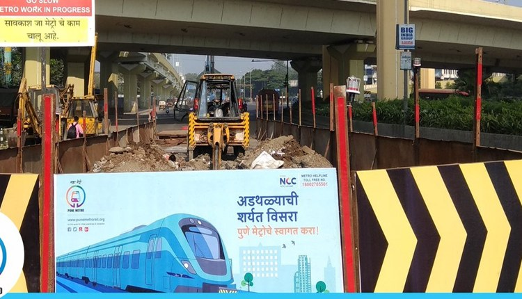Pune Metro | The construction part of the metro station collapsed on the highway