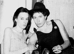 Julie Burchill and then boyfriend Tony Parsons in her punk days