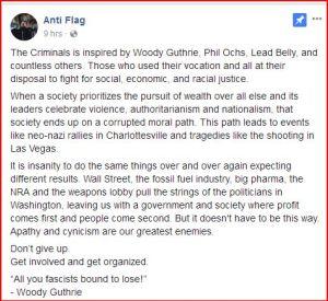 Anti-Flag on Facebook