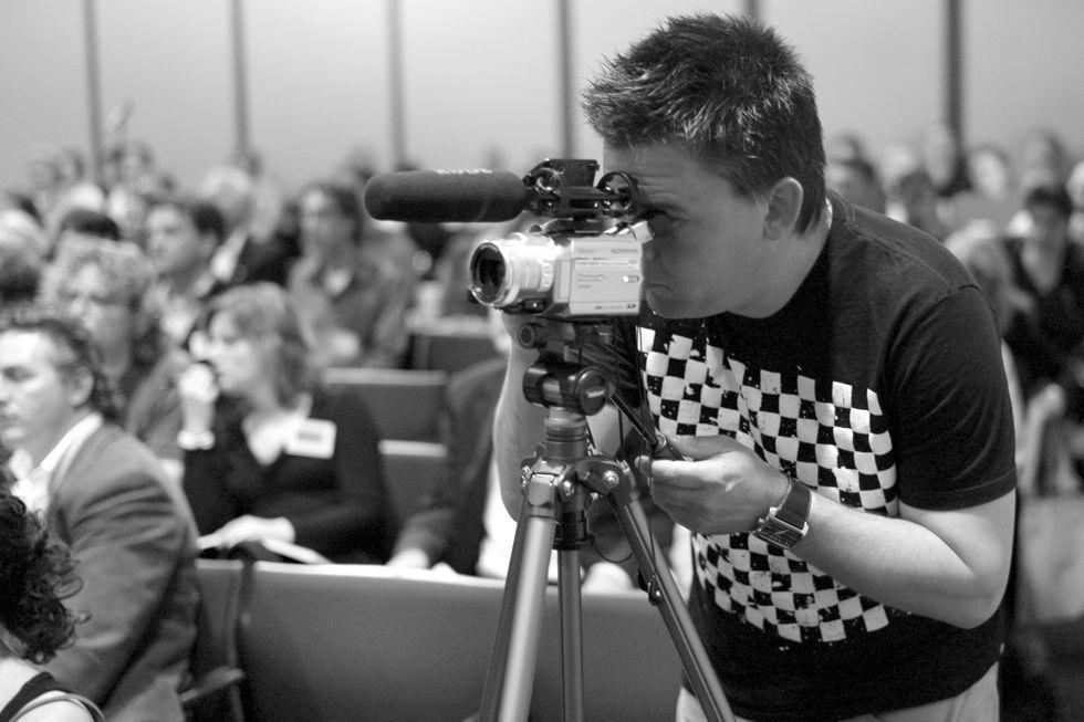HJ tijdens Blognomics 2007