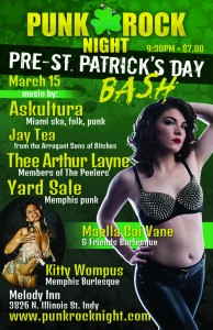 Indianapolis Punk Rock Night - Pre-St. Pat's Party: MCV Burlesque, Askultura, Yard Sale, Jay Tea