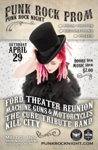 Annual PRN PROM!: Machine Guns & Motorcycles, Ford Theater Reunion, Cure Tribute Band, Kill City @ The Melody Inn | Indianapolis | Indiana | United States