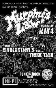 MURPHY'S LAW with Involuntary's, and Think Tank - at The HiFi @ The HiFi | Indianapolis | Indiana | United States