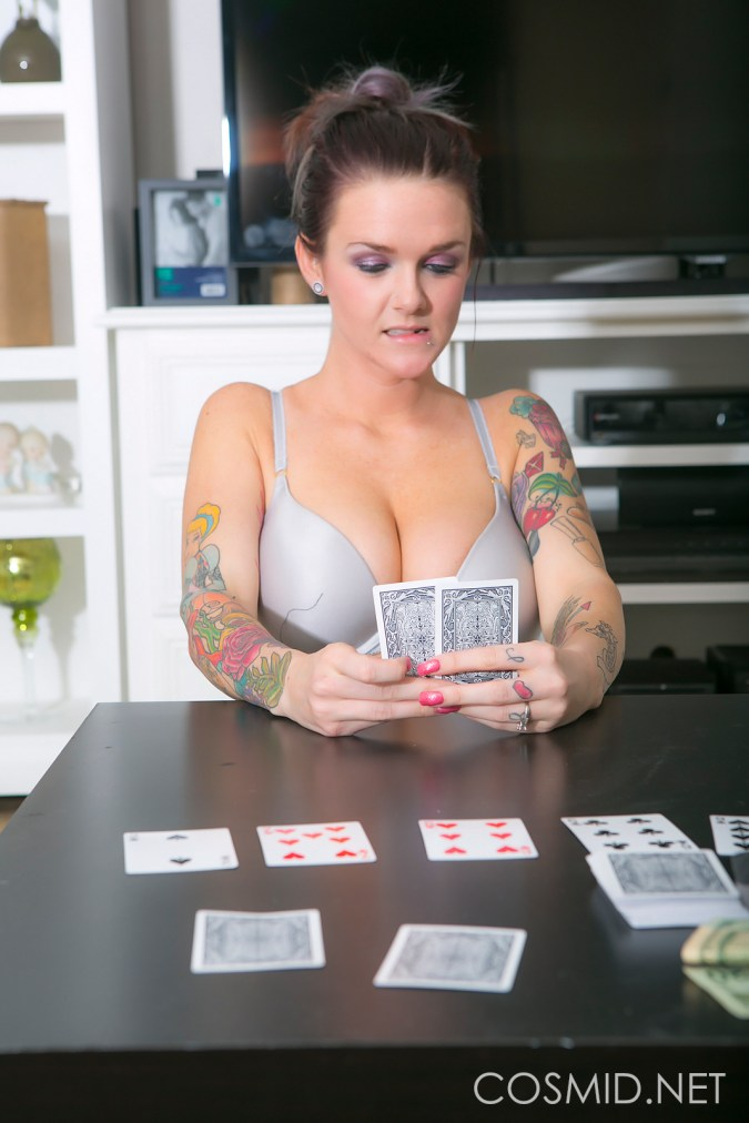 jordan b cosmid tattooed inked alt strip poker