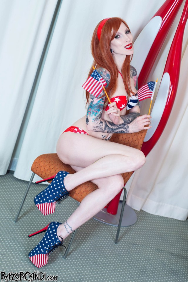 razor candi alt freedom independence day july 4th tattooed dildo