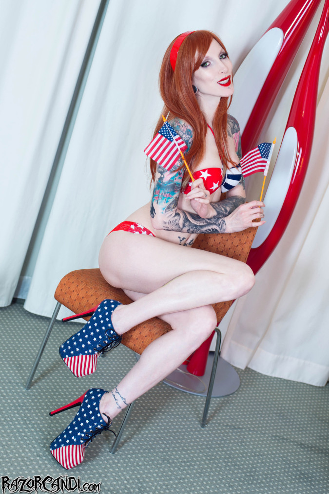 razor candi alt freedom independence day july 4th tattooed dildo