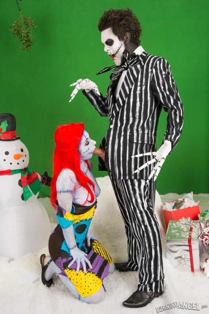 joanna angel nightmare before xxxmas burning angel christmas blowjob sally jack skellington cosplay