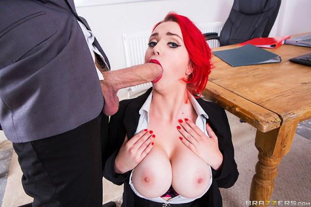 jasmine james testing the teacher busty british tattooed big tits redhead big dick pale brazzers blowjob