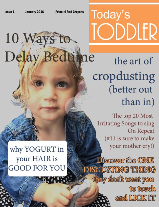 Today's Toddler Magazine January Edition