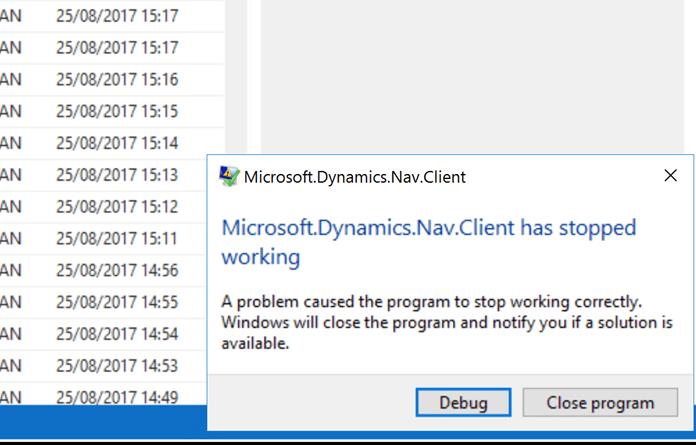 Custom layout crashes NAV after upgrade   Punky be