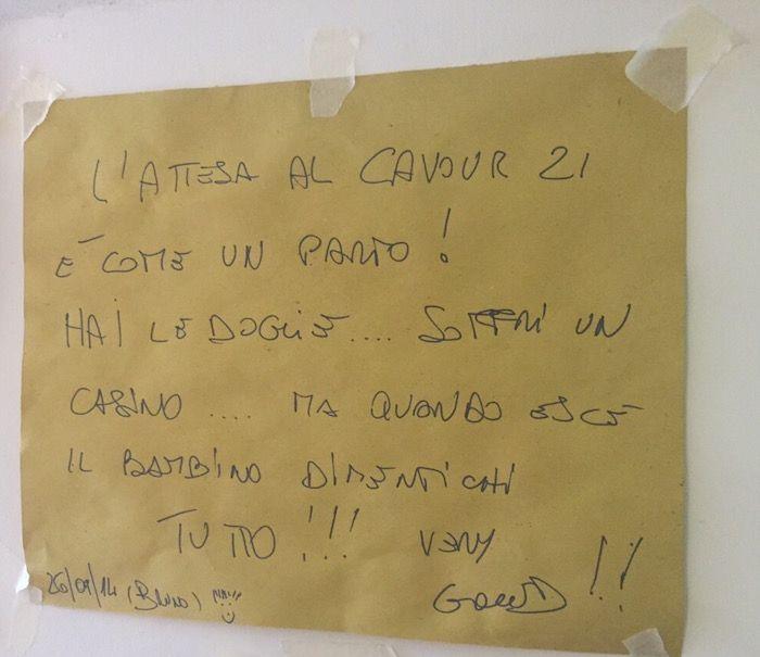 Trattoria Cavour 21 tovaglietta