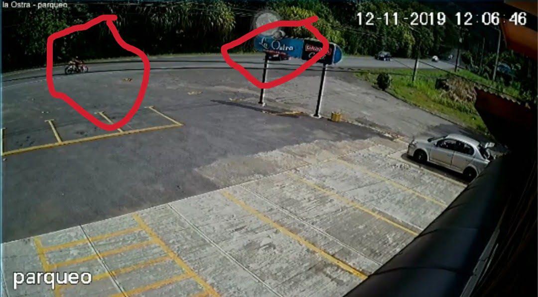 Video captó el momento exacto de la colisión en Quebrada Ganado - Puntarenas Se Oye