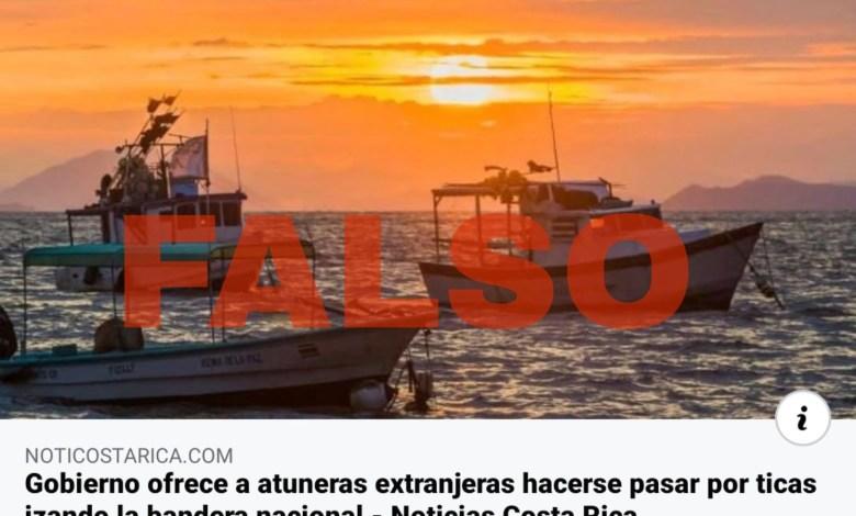 Photo of Gobierno NO está ofreciendo embanderar  flota extranjera como costarricense