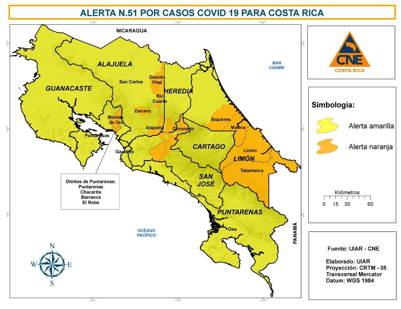 Photo of Estos son los lugares que pasen a Alerta Naranja en Puntarenas y las restricciones que se darán