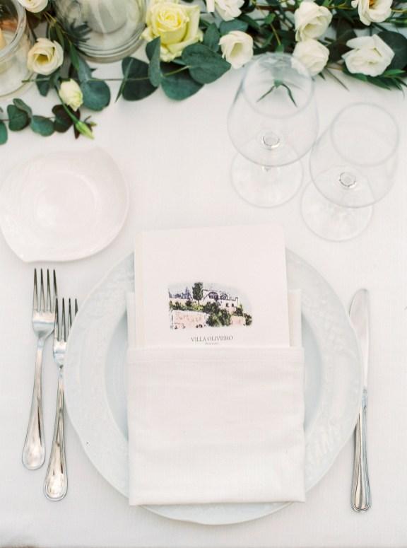 The wedding's dinnerware