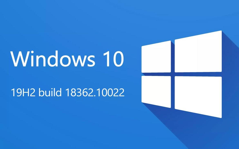 Windows 10 19H2, build18362.10022