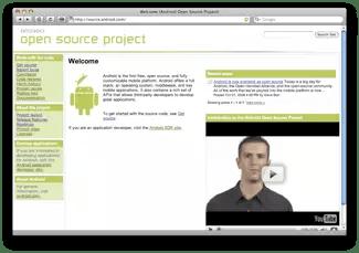 Il sito dell'Android Open Source Project