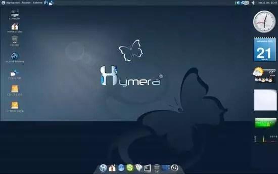 Il desktop avanzato di Hymera