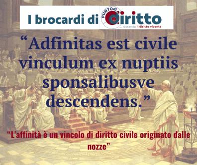 Brocardo adfinitas 1