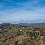 veduta sulla campagna in Umbria fra Perugia e Terni
