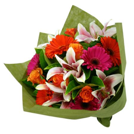 bouquet con fiori misti colorati