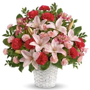 composizione di fiori in ciotola