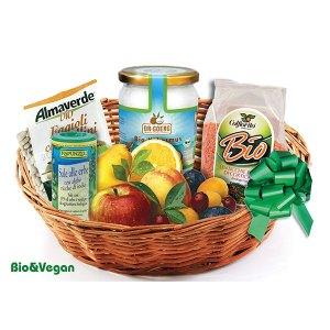 Consegna a domicilio cesto regalo con prodotti bio online